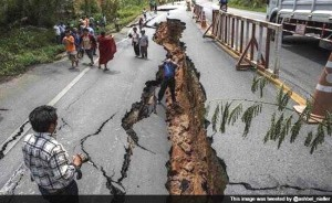 Road Nepal Earthquake