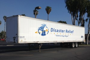 Side Of DRT Trailer Logo